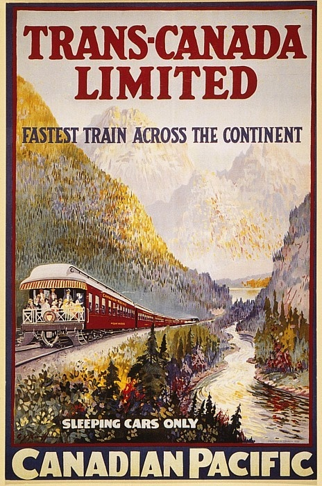 Canadian Railroad Poster Poster By Granger