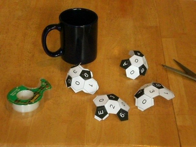"""Working on the solution for GC2400Z """"Truncated Icosahedron,"""" a puzzle cache by PhilNi"""
