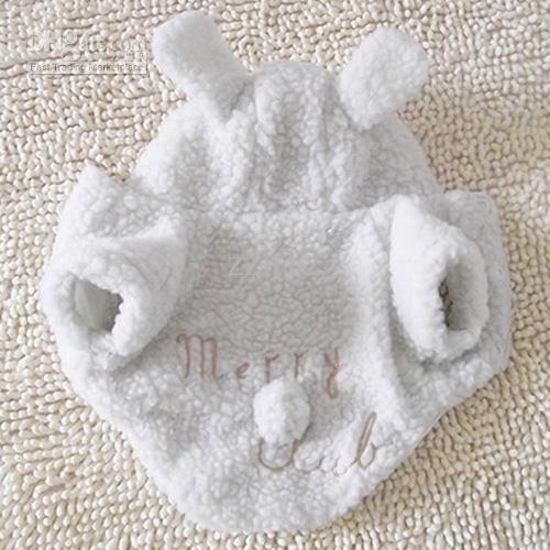 Cão de Suprimentos de artigos para Cães, Ovelhas Projeto Cão Casaco de Roupas para cães Cão de Vestuário Cachorro Quente de Algodão Branco, Casaco Gratuito de Transporte CA001