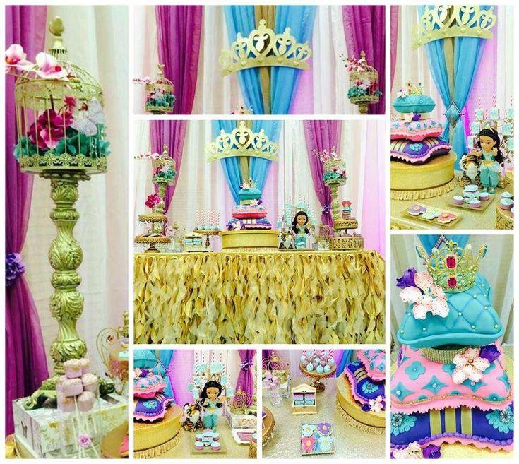 Princess Jasmine Aladdin Baby Shower Party Ideas  Photo 1 Of 25 -4140