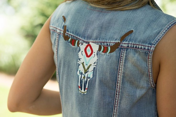Ryan Michael Women's Embroidered Denim Vest |A Cowgirl's Promise
