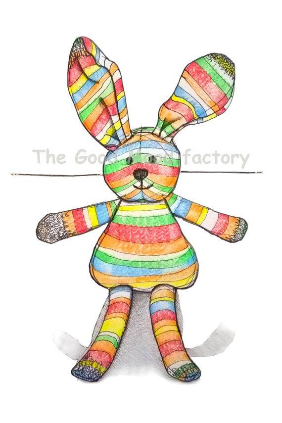 The Good Mood Factory_ The Bunny _ Nursery Illustration Art Print Baby Wall Decor