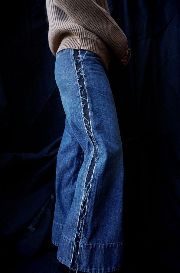 [ CINOH ] WASHED DENIM WIDE PANTS www.lancah.com