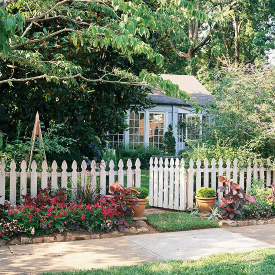 This charming home, with a shrub-filled front yard, felt a little bland, so the homeowners added curb appeal with a simple garden between their fence and sidewalk: http://www.bhg.com/gardening/landscaping-projects/landscape-basics/sidewalk-garden-front-yard/?socsrc=bhgpin030414splashofcolor&page=14