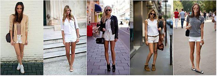 Белые шорты :  модные тенденции 2017