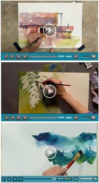 127 Free DIY Watercolor Videos - Jerry's Atrarama lets you enjoy more than 120 free watercolor how-to video demonstrations by talented watercolor artists. Beginner or advanced, you'll find helpful advice and techniques for your watercolor portraits, landscapes, seascapes and more. (Photo: Watercolor video demonstrations by Tom Jones and Linda Kemp) Click through to learn while watching your favorite videos.