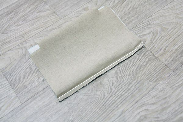 Natural linen and cotton cosmetic bag,  linen zipper pouch.  DIY tutorial in pictures. Сумочка-косметичка из льна. МК.