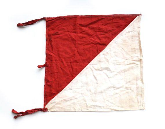 Signal Flag Semaphore Flag WWII Signal Flag Army Signal Flag
