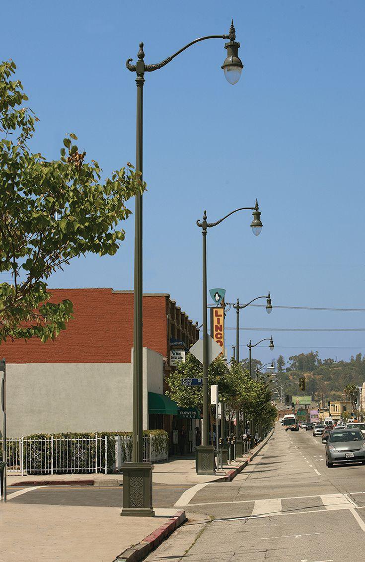 decorative site lighting architectural luminaire street post pedestrian, city of los Angeles, LED ANP;