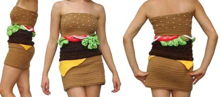 I couldn't resist this hilarious cheeseburger dress