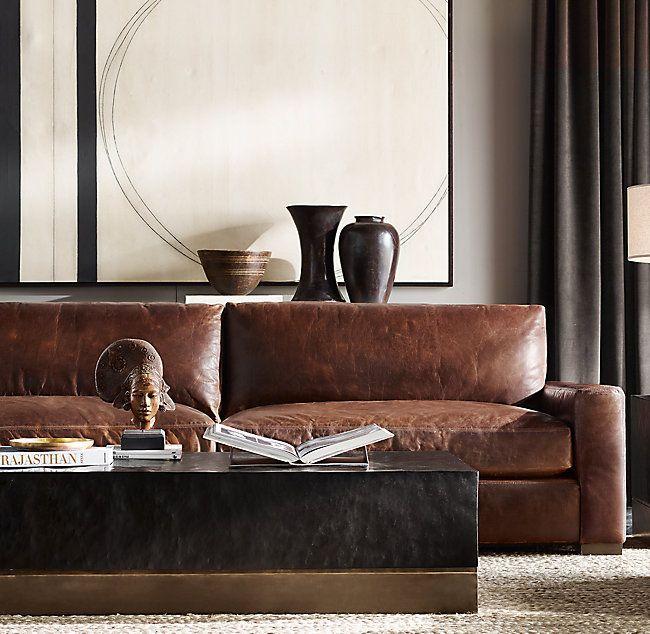 Rh S Maxwell Leather Sofa 39, Maxwell Leather Sofa