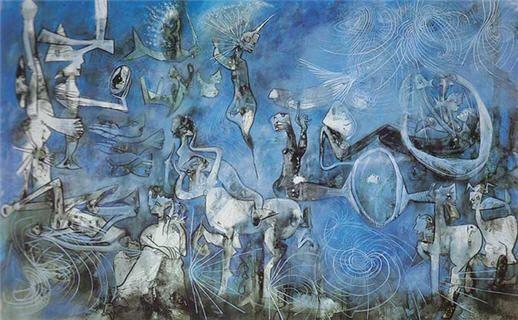 """""""El espejo de Cronos"""", de  Roberto Matta,  http://hostalesdechile.files.wordpress.com/2011/09/espejo-de-cronos-de-roberto-matta-hostales-de-chile.jpg"""