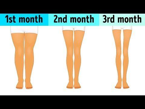 Dünne Beine in 8 Minuten – 9 Übungen