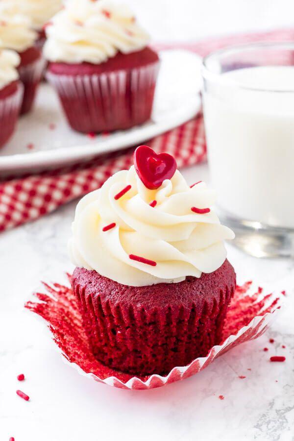 Red Velvet Cupcakes Recipe Creative Cupcake Recipes Cupcake Recipes Valentines Recipes Desserts