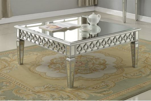 Silver Mirror Coffee Table and Sofa Table # mirrored coffee table