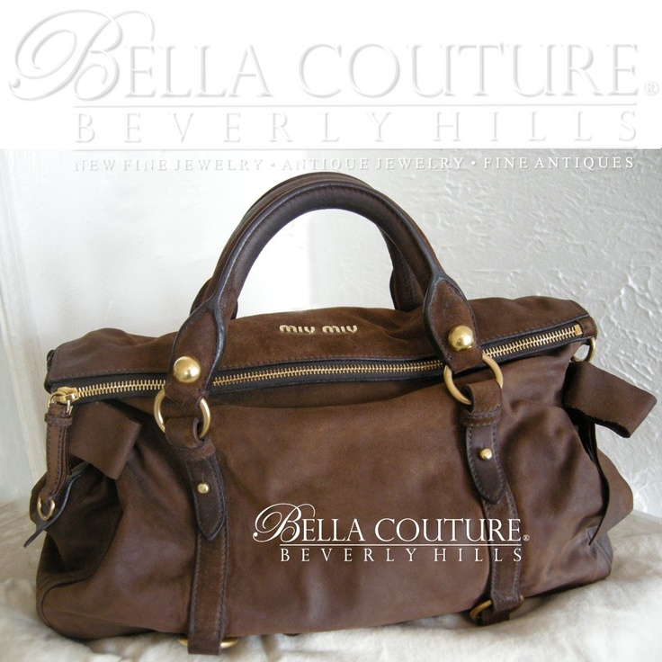 BELLA COUTURE ? - SOLD! - MIU MIU BAULETTO VITELLO BROWN SUEDE ...