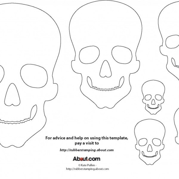 printable day of the dead skull