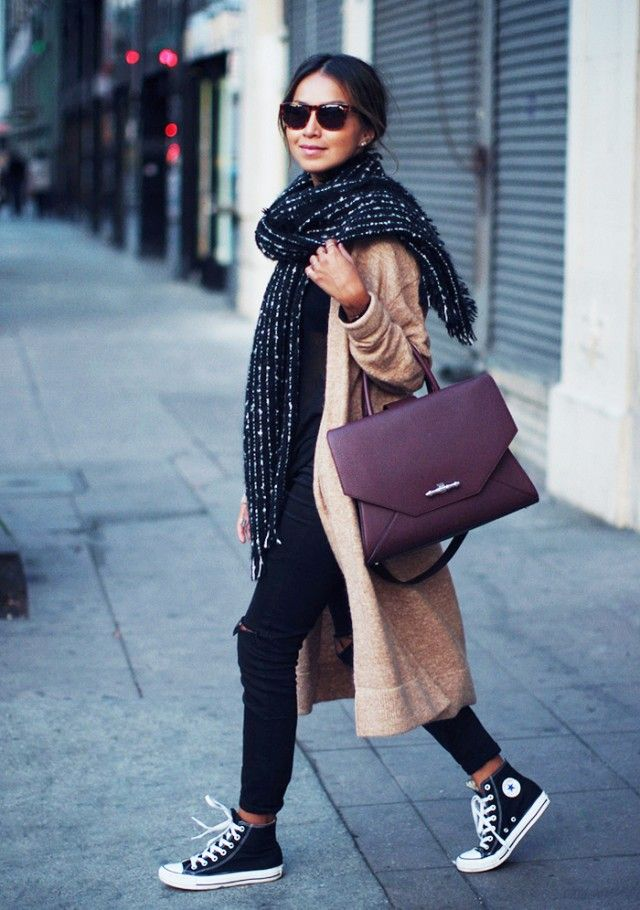 Stay warm, yet chic during winter's storms with these fab looks...Especially love the oversized scarf!