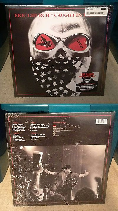 Music Albums: Brand New Sealed Eric Church Caught In The Act Vinyl Record - Rsd 2013 Rare! -> BUY IT NOW ONLY: $249.0 on eBay!