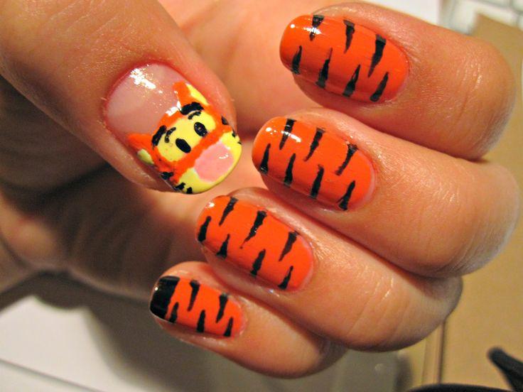 Tigger nails!   add- ons ;)   Pinterest