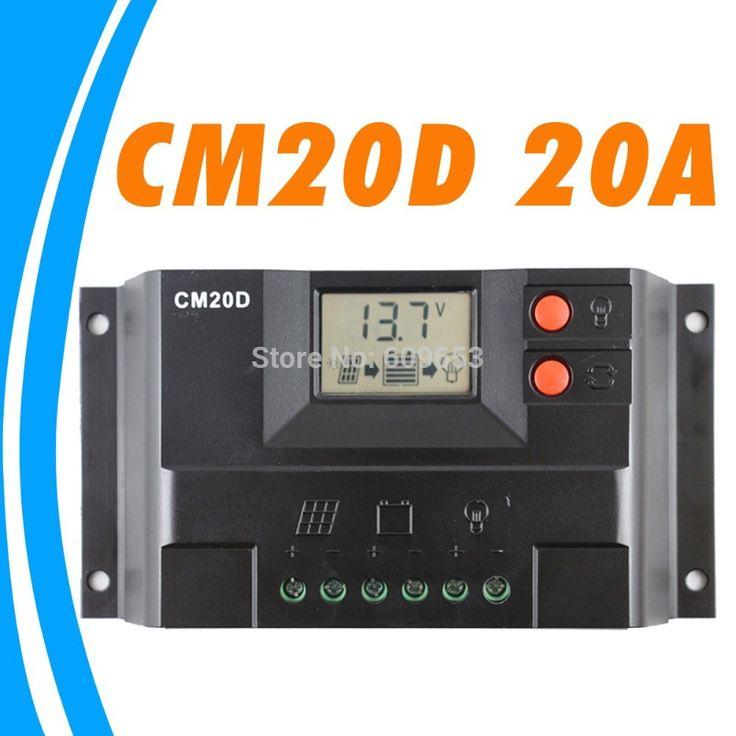 20А Контроллер Заряда 12 В 24 В солнечные панели контроллер ЖК-дисплей ГЕЛЬ тип Батареи вариант ЗАТОПЛЕНЫ ГЕРМЕТИЧНЫЙ освещение LED CM20D