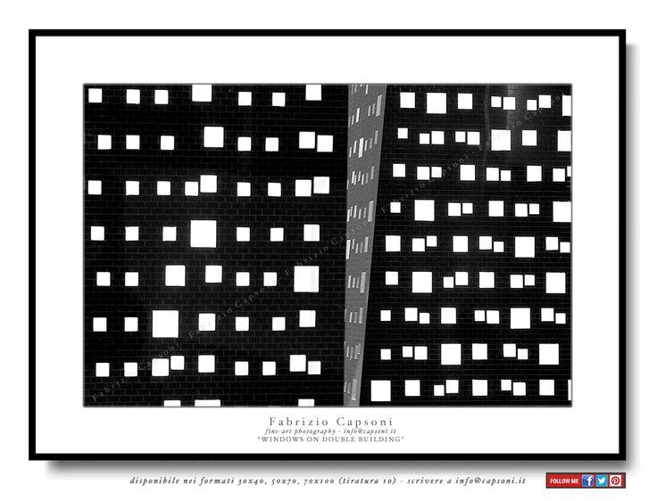 """Windows on double building"" ©2007 FABRIZIO CAPSONI - Fine Art Giclée Print on cotton paper - Limited edition - #fotografia #fineart #art #Interiors #homedecor"