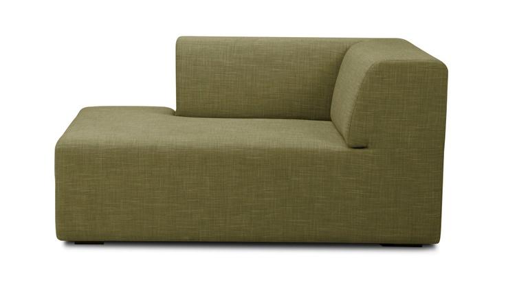 Chaise longue seed groen rechts binnenhuis pinterest for Arild chaise longue
