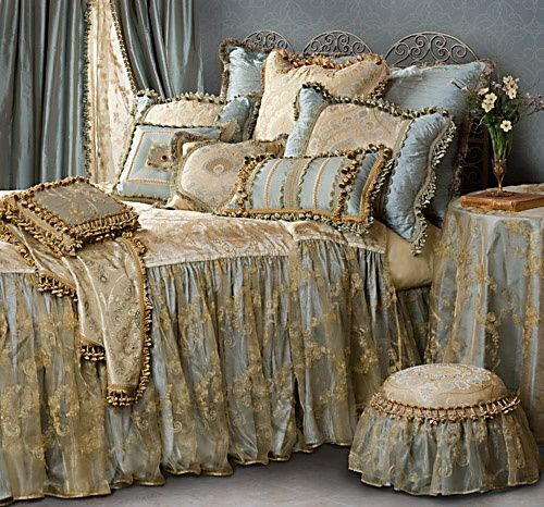 My favorite bedding ever.  I wish I could afford it.  Amazing.