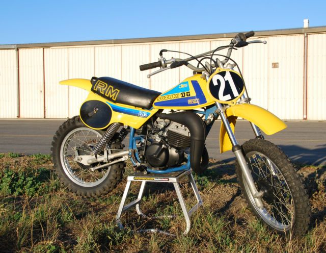 Super Clean 1980 Suzuki RM80 RM80 Vintage Motocross bike 80 DG Performance AHRMA for sale in Holy City, California, United States