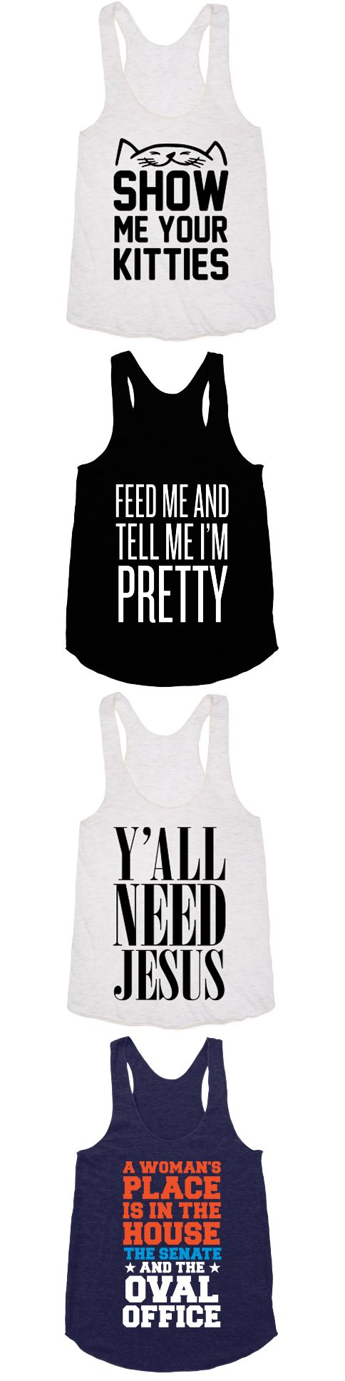 Racerback tanks are so in right now.