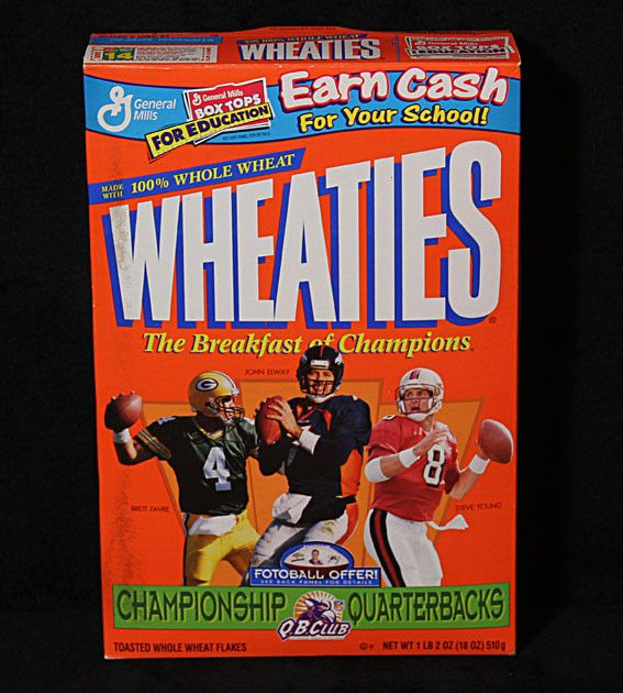 Collectible Limited Edition Football Legends Steve Young Brett Favre John Elway Sealed Wheaties Cereal  sc 1 st  Pinterest & 168 best WHEATIES BOXES images on Pinterest | Cereal boxes ... Aboutintivar.Com