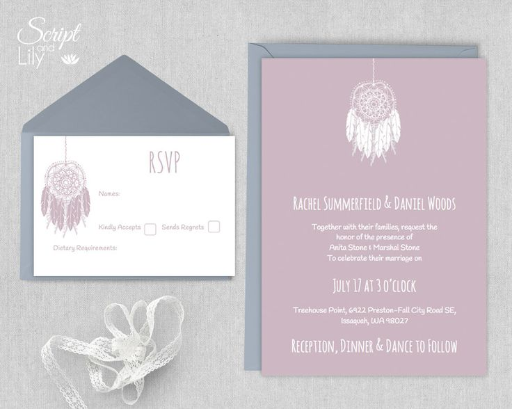 """Boho Wedding Invitation Template 