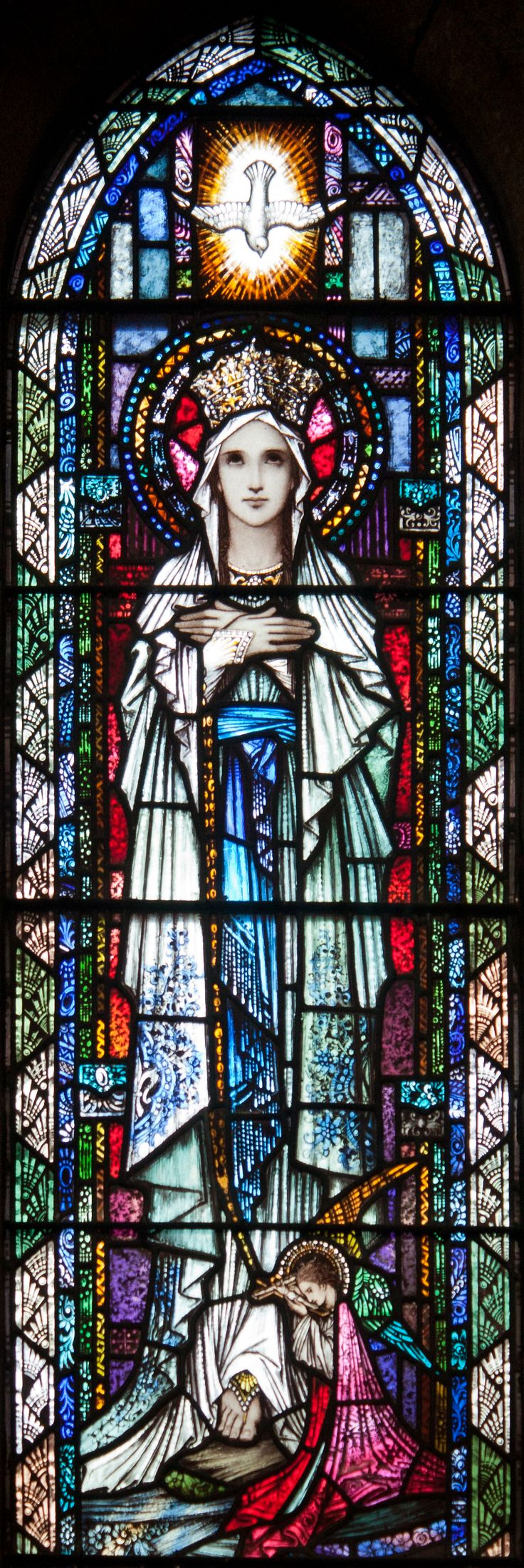 Our Lady of Lourdes Stained Glass Windows