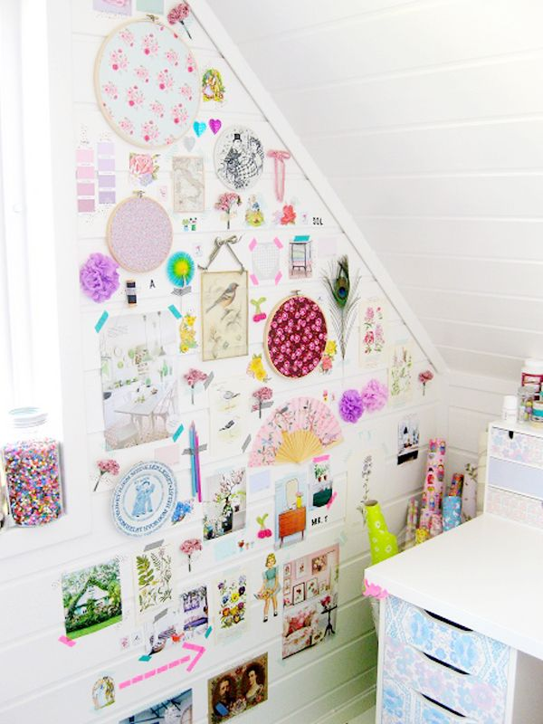 crafty inspiration children room ideas. Retro Inspired Attic Craft Space 426 best Home Decor  Wall Collage images on Pinterest