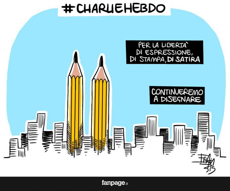 From Italy to Charlie.  Carlie Hebdo