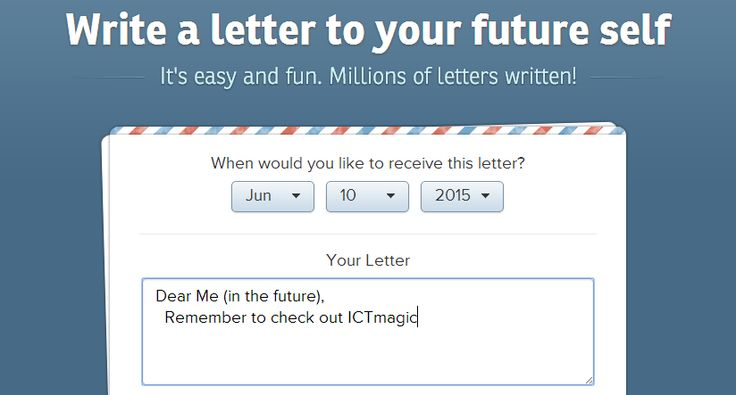Why & how to write a letter to your future self