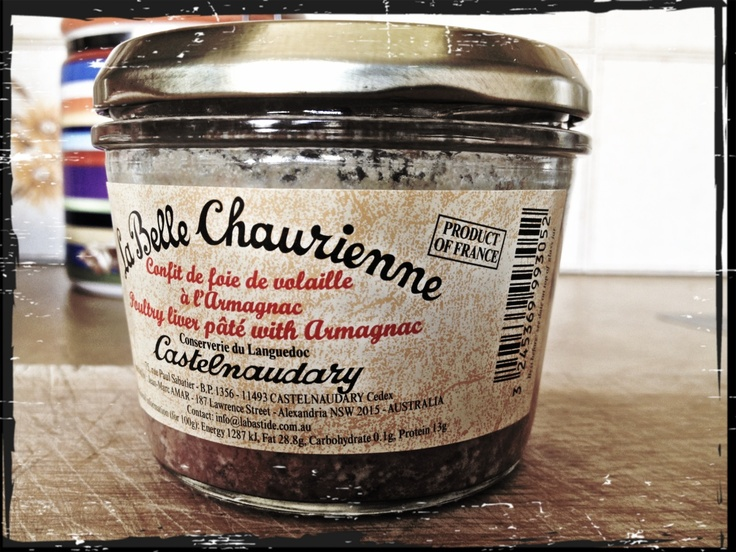 what a Pate infused with Armagnac. This pate is not smooth has a rough texture however the taste is to die for.