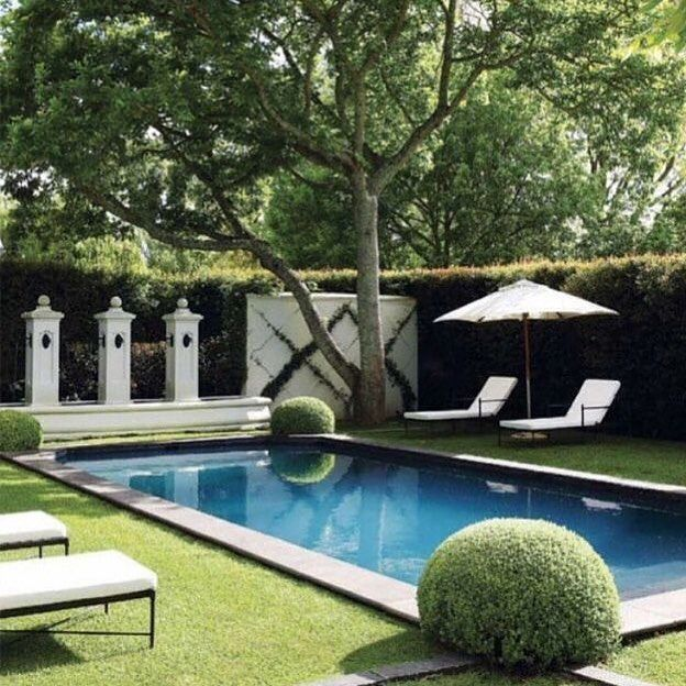 Hedge-enclosed swimming pools got me like | Outdoor Spaces in 2019 ...