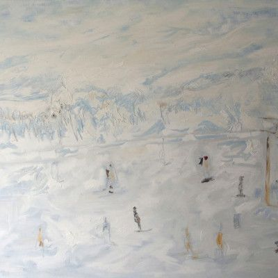 Spalding - Cow Blue, Oil on Linen 1900x2900mm $14,000 Stanley Street Gallery