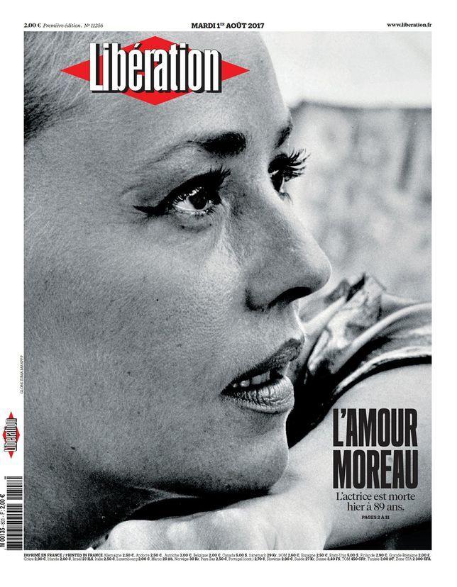 Une Libé Jeanne Moreau