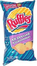 Canadian Ruffles All Dressed Chips (Assaisonnées Croustilles)