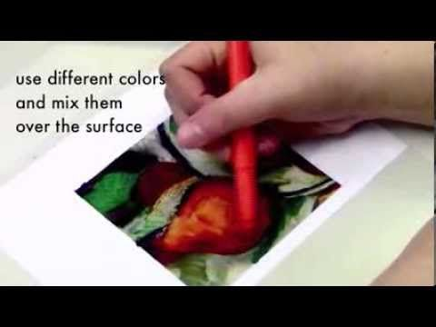 Video tutorial from arteascuola.com: Monoprints inspired by Cézanne