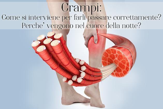 I crampi muscolari sono contratture involontarie, improvvise e dolorose, di un muscolo o di un gruppo di muscoli. Ecco cosa fare.
