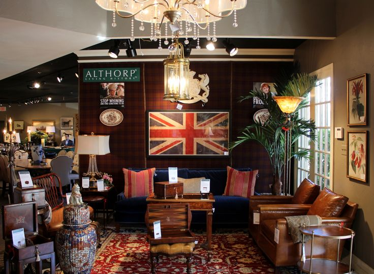 #British Themed Showroom With Some Pieces From The #Althorp Collection  #DowntonOn. Theodore AlexanderShowroom