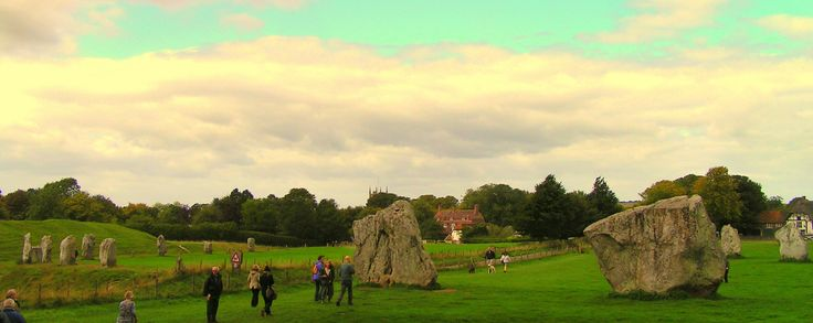 Stones at Avebury, Wiltshire, UK.  Travels featured in the Campervan Capers books/blog by Alannah Foley.