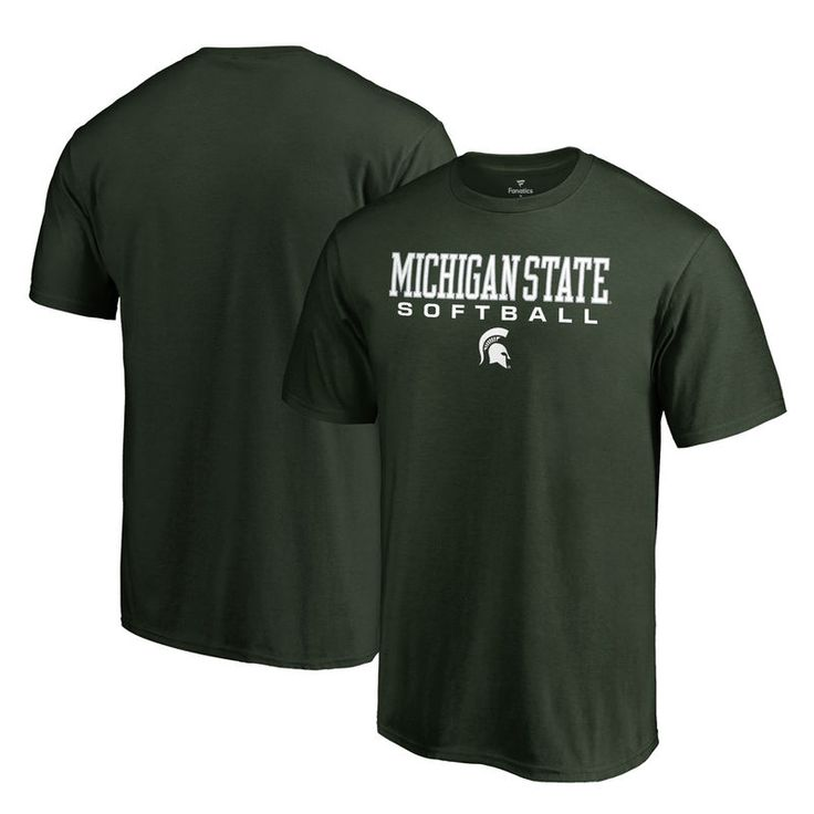 Michigan State Spartans Fanatics Branded Big & Tall True Sport Softball T-Shirt - Green