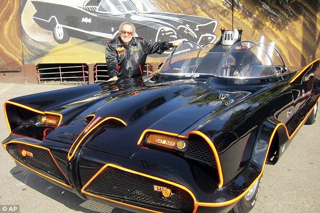 The 'most valuable car in the world': George Barris (pictured) has decided to sell the original Batmobile 47 years after he built it from an old Lincoln Futura