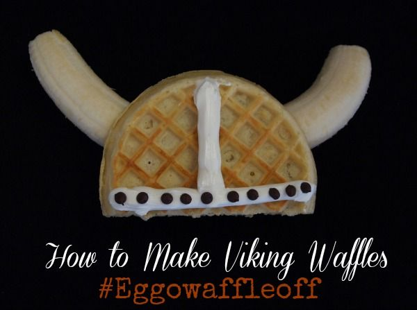 How to make Viking Helmet waffles - healthy and super delish. And very fun for kids!