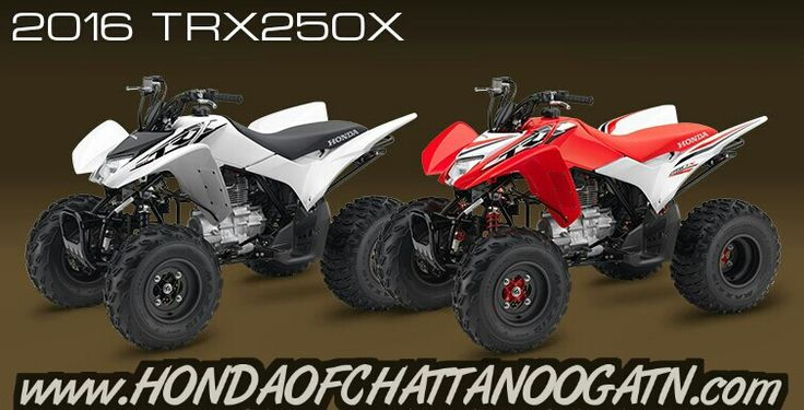 2016 Honda ATV Models / Model Lineup Announcement. Check out the 2016 TRX250X / 2016 TRX250X Deluxe at Honda of Chattanooga online www.HondaofChattanoogaTN.com   For more 2016 Honda ATV model updates click on over to www.HondaofChattanoogaTN.com   2016 Honda TRX250X Release Date : May 2015