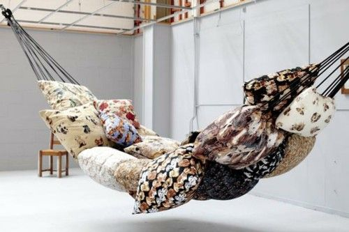 pillow hammockSweets Home, Bookworm Dreams, Pillows Hammocks, Decor Ideas, Apartments Ideas, Cushions Hammocks, Places, Design, Comfy